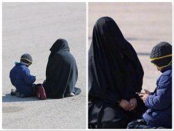 عکسی از انتظار همسر و فرزند یکی از شهدای عملیات تروریستی زاهدان در فرودگاه بدر اصفهان...  #محفل_رقیه_خاتون_(س)