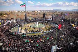 نمایی زیبا از حماسه دبروز مردم اصفهان در تشییع شهدای حادثه تروریستی سیستان و بلوچستان