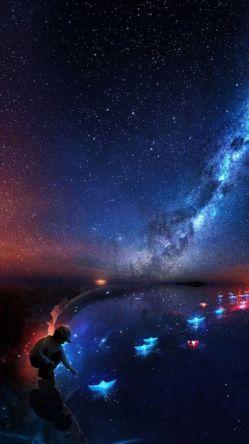 اینجا در انزوای جهان ،  چیزی  شکل ستاره ایست که می سوزد ،  آیا قرار نیست ببینیدم ؟ من نیز در میان شما هستم ....#حسین_صفا #شبتون زیبا