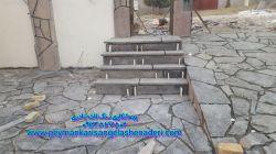نصب و اجراع پله سنگ سخره ای 09193394461  اجرا با مصالح کارهای معمولب و برشی استادوارهای سخره ای و مالونی:نادری_http://lenzor.com/p/yTJNa