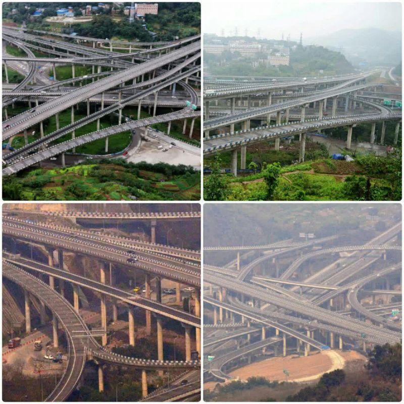 """پیچیده ترین پل رو گذر جهان در شهر """"چونگ کینگ"""" در جنوب غربی چین طراحی شده است که برای پاسخ گویی به نیازهای حمل و نقل یکی از بزرگترین شهرهای این کشور ساخته شده است."""