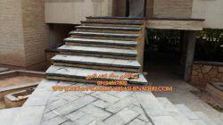 از دید نزدیک پله کاری و اجرت قیمت 09124867802 لاشه کاری برای پله و غیره گروه سنگ نادری با سنگ