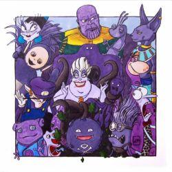 تمام شخصیت های انیمیشنی یا فیلم که رنگ شون #بنفش :)