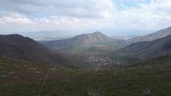 نمایی از نظم اباد اراک از فراز کوه ضد هوائی