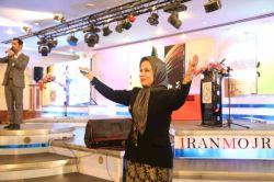 دکتر فریبا علومی یزدی رئیس  نهمین جشنواره مجریان و هنرمندان صحنه ایران ،تهران ،هتل هما