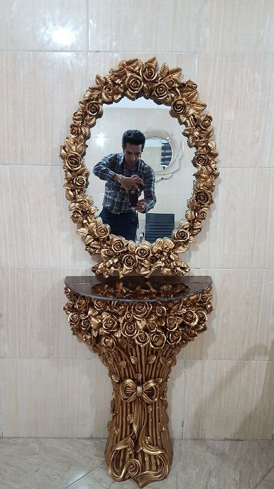 آینه کنسول  فایبرگلاس | آینه و کنسول فایبرگلاس گلدسته رولند | آینه و کنسول  فایبرگلاس شماره یک