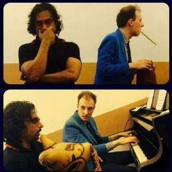 . محسن شریفیان در كنسرواتوار چایكفسكى مسكو با الكسى سرگونین ( نوازنده پیانو )