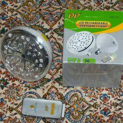 چراغ شارژی کنترل دار ۳۶ ال ای دی DP ... سفارش از طریق وایبر به شماره ۰۹۱۳۱۶۶۸۳۷۰