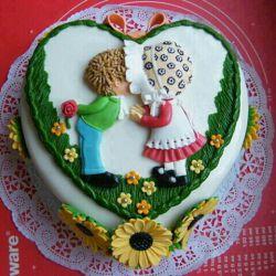 کیک تولد عاشقا