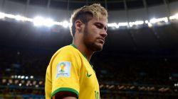 Neymar of Brazil walks off the pitch