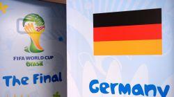 Door of Germany dressing room is seen