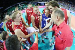Russia team during the time out