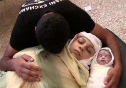 مادر و فرزند فلسطینی