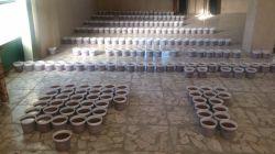 پخت 300 کیلو سمنو در مدرسمون و توزیع بین همه دانش آموزان