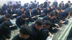 مراسم زیارت عاشورا در مدرسه