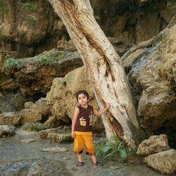 شازده کوچولوم در آبشار آسیاب خرابه جلفا