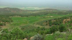 چشم انداز دشت ماهدیدشت از فراز کوههای چار زبر - کرمانشاه