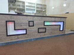 نمای اپن آشپزخانه ...mdf آنتیک لایت با باکس و نور مخفی از نمایی دیگر