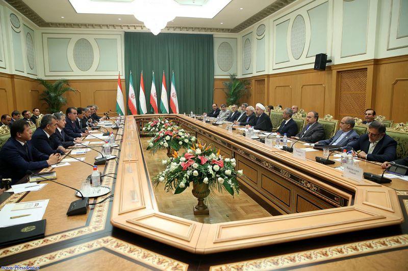 نشست هیات های عالیرتبه ایران و تاجیکستان