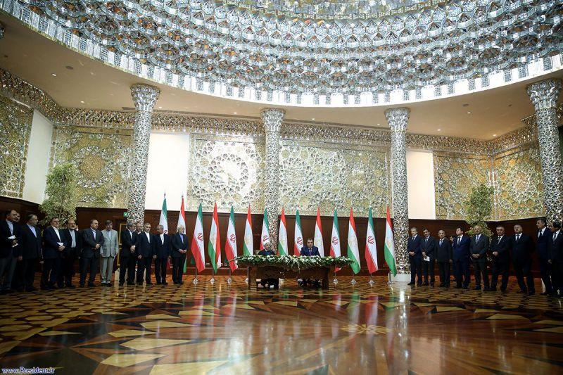 امضاء سند همکاری ایران و تاجیکستان