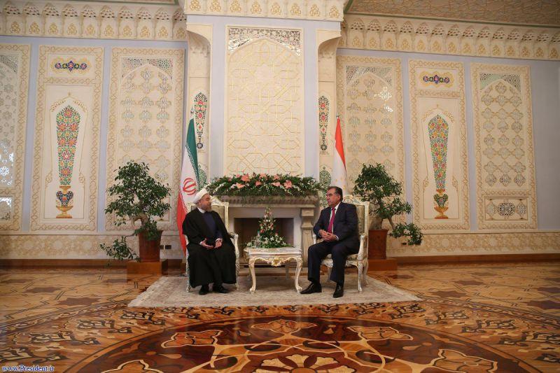 روسای جمهور ایران و تاجیکستان