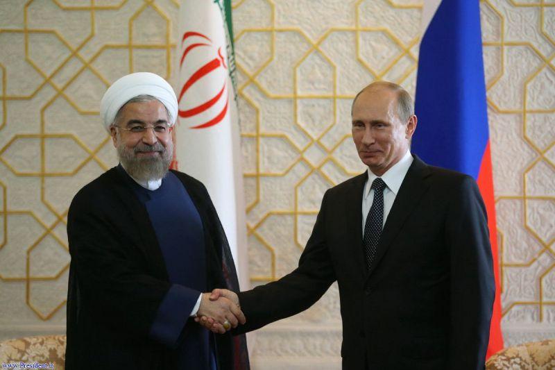 دیدار روسای جمهور ایران و روسیه