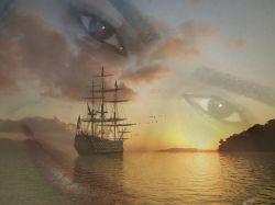 چشمانی دریایی در دل دریا