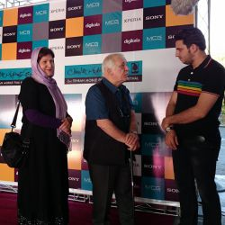 خسرو سینایی و گیزلا وارگا سینایی در افتتاحیه جشنواره فیلم و عکس همراه تهران 21 شهریور 1393