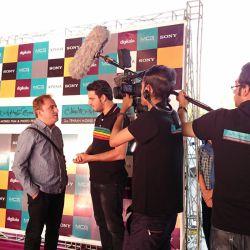 مهدی مقیم نژاد در افتتاحیه جشنواره فیلم و عکس همراه تهران 21 شهریور 1393