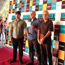 پیروز کلانتری، بابک کریمی و مهرداد اسکویی در افتتاحیه جشنواره فیلم و عکس همراه تهران 21 شهریور 1393