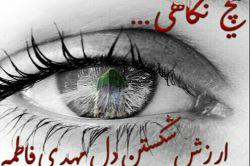 هیچ نگاهی ...... ارزش شکستن دل مهدی فاطمه را ندارد