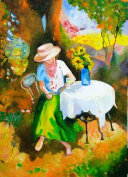 بانوی بهار - این نقاشی رو سال 93 کشیدم .