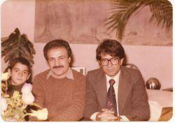 از راست:استاد محمدرضا شجریان-استاد محمد موسوی و همایون شجریان در کودکی
