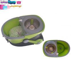 کف شوی پاوتو PAOTUO  سطل و تی چرخشی پاوتو دارای دو دستگیره و دو چرخ برای حمل آسان تر میباشد.