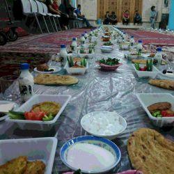 سفره افطار مسجد جامع