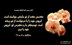 امام حسین (علیه السلام) فرمودند:کسی که از تو حاجتی خواسته است،آبروی خود را با درخواست از تو ریخته است،تو دیگر با رد کردن او،آبروی خود را نریز.