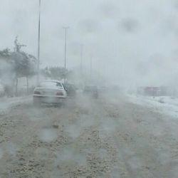 بارش برف و رحمت الهی روز تاسوعای حسینی اردبیل