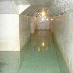 سرداب قبر حضرت عباس (ع) که پر از آب است