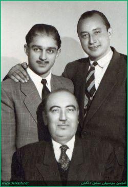 زنده یادان جلیل شهناز . حسن کسایی و ابولحسن صبا