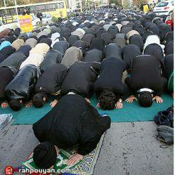 اقامه ی نماز ظهر به امامت حضرت حجت الاسلام والمسلمین انجوی امینی