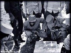 حضور رهبری در جبهه های جنگ ...