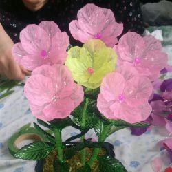 بچه ها این گلها رو خودم درست کردم،کارم چطوره؟؟؟ تازه الان هم دارم گل سنبل برای سفره هفت سین درست میکنم.