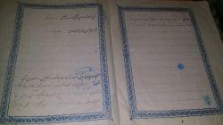 سند ازدواج پدر مادرم مهریه شو ببینین مال سال 1328هجری شمسیه