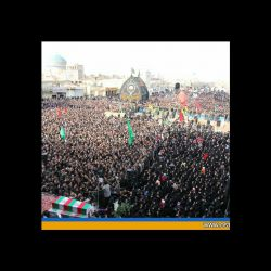 مراسم تشییع پیکر 8 شهید گمنام در یزد