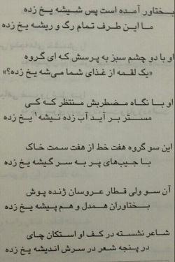 یکی از شعرهایی که خیلی دوست دارم از استاد ابوطالب مظفری