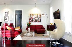 #مبلمان #قرمز زیبا برای #اتاق #پذیرایی...