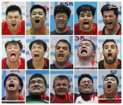 چهره ورزشکاران مختلف زیر وزنه - شما کدام را می پسندید؟