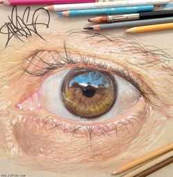 نقاشی چشم انسان..