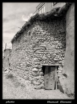 نمایی از بافت قدیمی و روستایی - روستای مجن،شهرستان شاهرود