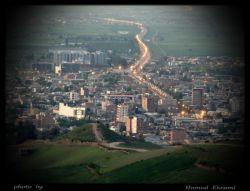 بام آزادشهر (زیتون تپه) - نمایی از شهر آزادشهر